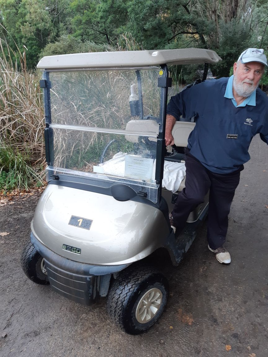 Ron Hottes climbs into Cart Number 1!